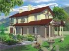 Проект комфортного дома с мансардой и гаражом